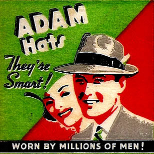 Adam Hats   Time and Seasons Custom Scale and Model Railroad Signs ... e060fc3ee8f