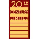 20th Century Limited gold on red