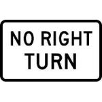 Small No Right Turn Sign