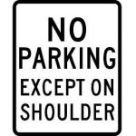 No Parking except on shoulder