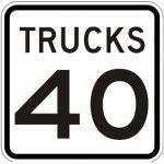 Speed Limit - Trucks