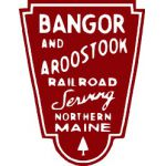 Bangor and Aroostook Short red and white