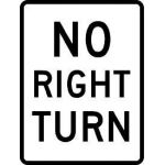 Large No Right Turn