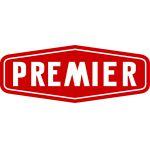 Premier white on red
