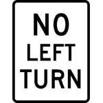 Large No Left Turn