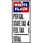 White Flash price sign