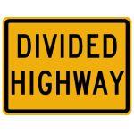 Begin Divided Highway Legend