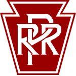 Pennsylvania Railroad white on red