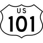 Federal Highway Shield - California 3 digit