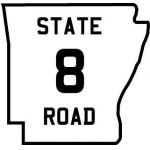 Arkansas highway shield before 1954